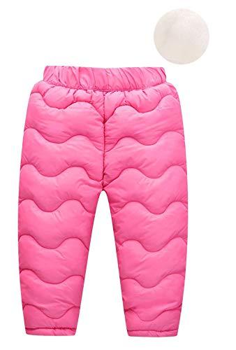 Happy Cherry Baby Junge Mädchen Winddicht Elastische Winterhose Leichte Warme Dicke Schneehose