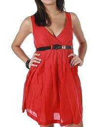 original Miss Sixty Vestido Gabin rojo Cremallera cinturón nuevo
