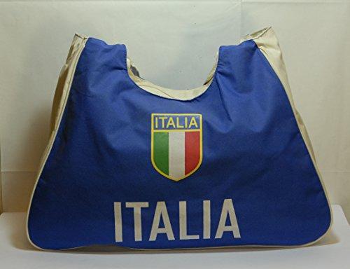 Sac de plage sport ou national Italie Bleu 39 x 46 cm