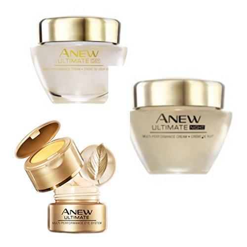 Set Avon Anew Ultimate Multi-Performance 1x Tagescreme 50ml 1x Nachtcreme 50ml und 1x Augenpflege...