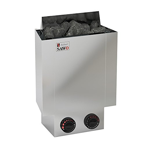 SAWO NORDEX MINI 3,6 kW Elektrische Saunaofen; mit integrierte Steuerung (NB-Modell); Multispannung: entweder Einphasig oder 2-Phasig; Edelstahl