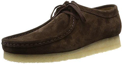 Clarks originals wallabee, mocassini uomo, dark brown suede, 39