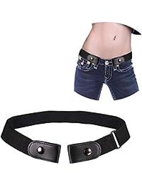 UMIWE Cinturón sin hebilla Cinturon elástico para mujer hombre Niños para  pantalones vaqueros vestidos 1717bde79a34
