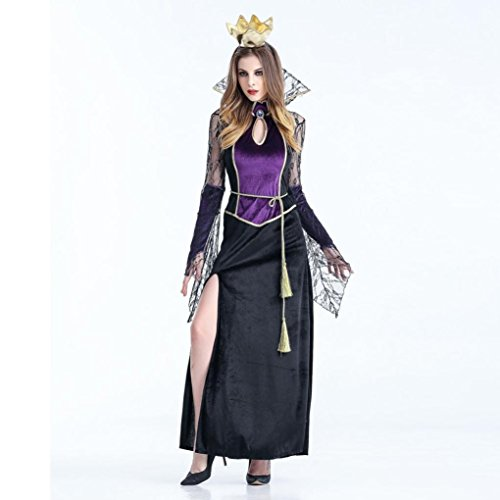 Fernsehen Kostüme (Kanpola Halloween Cosplay Damen Kleid Hairband Vampir Witch Party Kostüm (XL,)