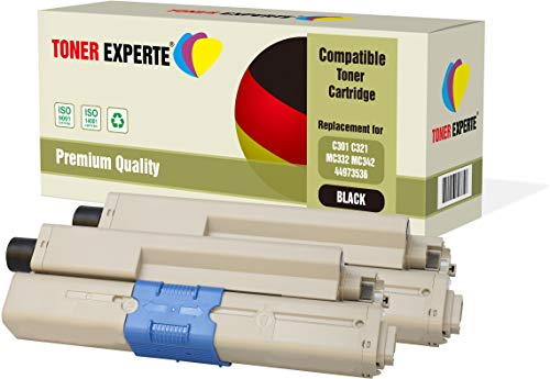 2er Pack TONER EXPERTE® Schwarz Premium Toner kompatibel zu 44973536 für Oki C301 C301dn C321 C321dn MC332dn MC342dn MC342dnw MC342dw MC342w