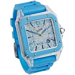 Urbanz Electric Blue Rubberised Fashion Watch