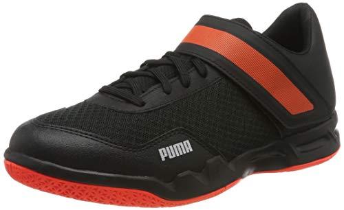 Puma Unisex-Erwachsene Rise XT 4 Futsalschuhe, Black-Silver-NRGY Red 01, 41 EU