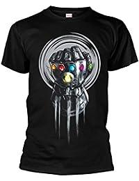 Marvel Official Men's Unisex Avengers Infinity War Thanos Infinity Power T-Shirt