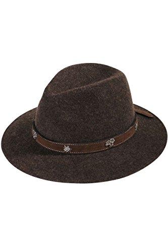Herren Faustmann Hüte Hut braun 'Edelweiß', braun, 59