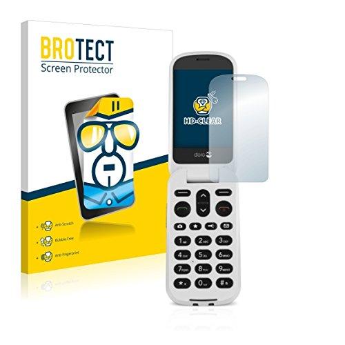 2X BROTECT HD Clear Bildschirmschutz Schutzfolie für Doro 6050 (Kristallklar, extrem Kratzfest, schmutzabweisend)