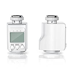 CSL-Computer Bearware Thermostat | bis zu 15% Heizkosten Ersparnis/Energiespar-Regler intelligenter Eco/Boost-Modus | grau