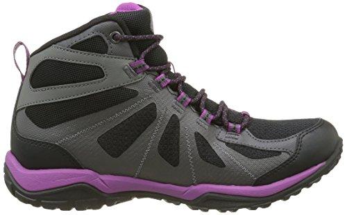 Columbia Peakfreak Xcrsn Ii Xcel Mid Outdry, Chaussures de Randonnée Hautes Femme Noir (Black/Intense Violet 010)