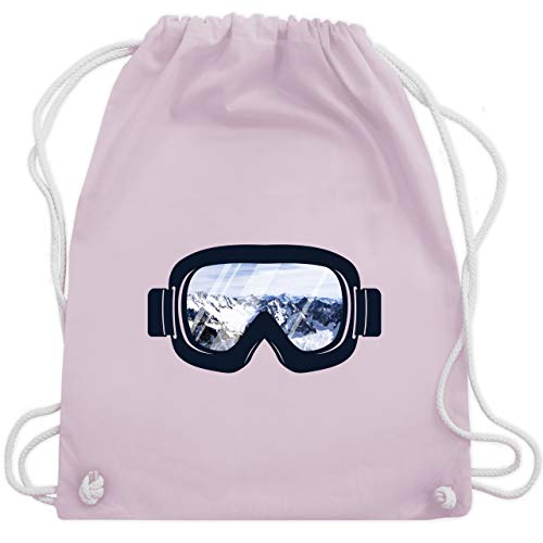 Wintersport - Ski Brille Aussicht - Unisize - Pastell Rosa - WM110 - Turnbeutel & Gym Bag