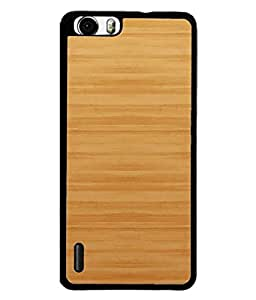 PrintVisa Designer Back Case Cover for Huawei Honor 6 (brown wooden colored looks awesome)
