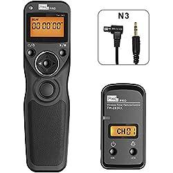 PIXEL TW-283 N3 sans Fil Déclencheur Minuteur Télécommande Câble de déclenchement pour Canon EOS 1D 5D III IV 6D II 7D II 70D 50D 40D 30D 20D 10D