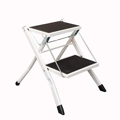 Klapptrittleiter Homewares Folding Tritthocker für Erwachsene , 2 Trittstufen-Hocker Rutschfeste Leitern Kleine Fußstühle (Farbe : B)