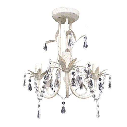 VidaXL Lámpara techo colgante Araña cristal elegante