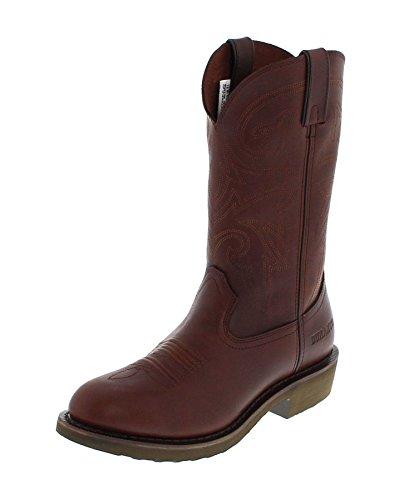 Durango Boots FR104 D Pull-on Brown Lederstiefel für Herren Braun Westernstiefel, Groesse:40 (7.5 US) (Durango Leder)
