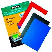 Fellowes 5470801 - Pack con 50 portadas de polipropileno, A3, color negro