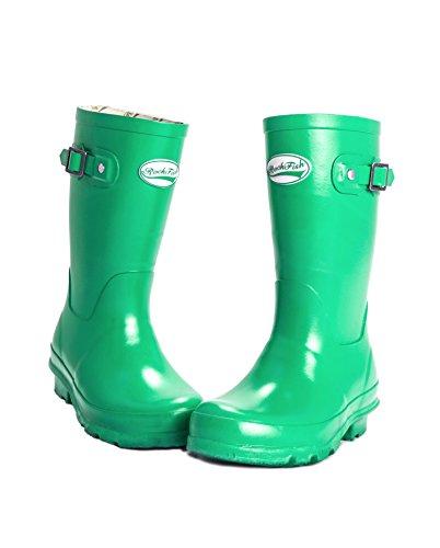 Rockfish Wellington Boots - Original Gloss Kids Wellies Aqua