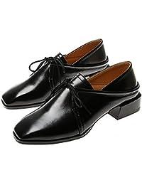 Damas Bombas Casuales Zapatos Planos Zapatos De Trabajo Zapatos Perezosos Zapatos Con Cordones Retro Zapatos Bullock