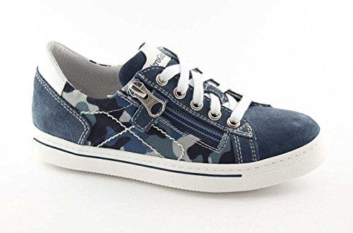 Nero Giardini Black Jardins Junior 35/39 33800 Chaussures de Bébé Bleu Espadrille Lacets Zip