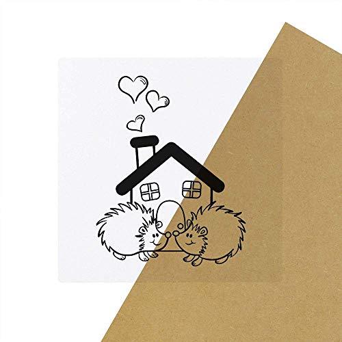 6 x \'Igel-Haus\' Transparente Aufkleber / Stickers (SK00030010)