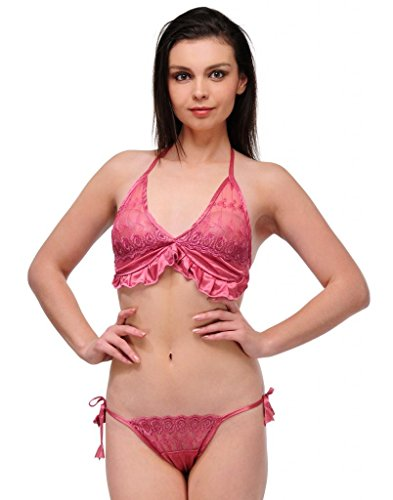 OLEVA Casual Set of 2 Lingerie Set OLG_BP7_Pink  available at amazon for Rs.399