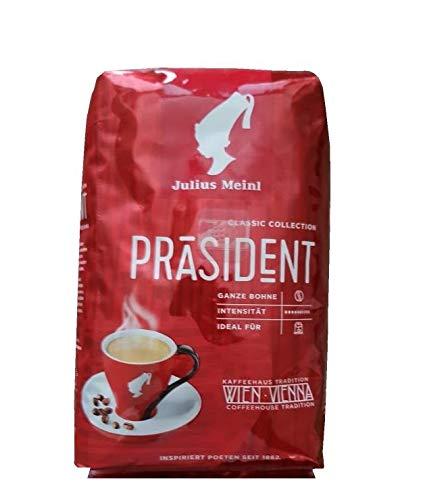 Julius MEINL Kaffee Präsident, ganze Bohnen, 20 Packungen mit jeweils 500 g, gesamt 10 KG