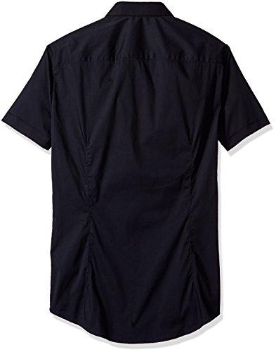 Armani Jeans Hommes Chemise slim fit manches courtes Bleu Foncé Navy