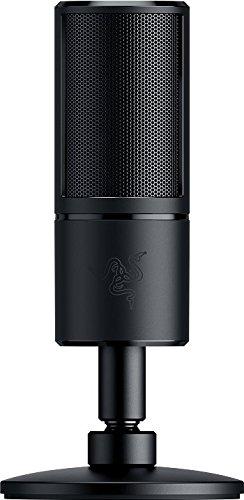 Razer Seirēn X - USB Kondensator-Mikrofon (für Streaming, Kompaktes Streamer Mikrofon mit integriertem Schockdämpfer und Superniere Aufnahmemuster)