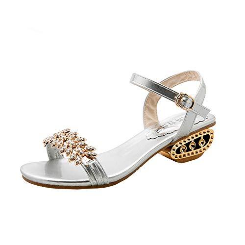KonJin Women's Flat Sandals Summer Beach Walking Sandals Clip Toe Flip Flops Thongs Bohemian Ladies Slip On Open Toe T-Strap Braided Flats Elastic Slingback Casual Fashion Vacation Shoes - Gem Thong Sandal