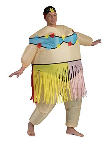 Aufblasbares Kostüm Hula Frau Airsuit Hawaii Tänzerin Kostüm AirSuits Fasching