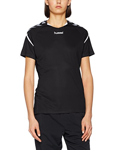 Hummel Damen Authentic Charge Poly Handballtrikot Trikot, schwarz/Weiß, L