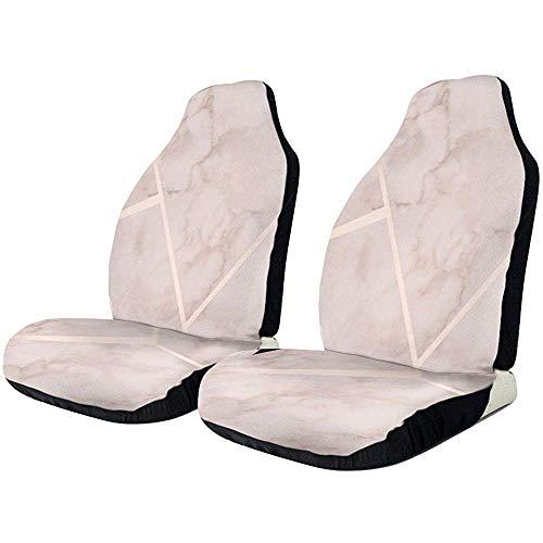 Drew Tours Autositzbezüge Rose Gold Marmor elastische Satteldecke mit Sitz Universal Car Seat Zubehör