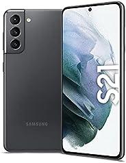 Samsung Galaxy S21 Dual SIM Smartphone, 256GB 8GB RAM 5G (UAE Version), Phantom Gray