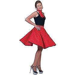 Falda Rock And Roll años 50 con pañuelo para el cuello