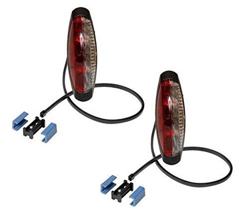 FKAnhängerteile 2 x Aspöck Begrenzungsleuchte Flexipoint II rot-weiß
