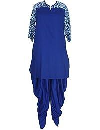 Patrorna Women's Royal Blue Designer Kurti And Dhoti Pant/Salwar Set (Size S-7XL)