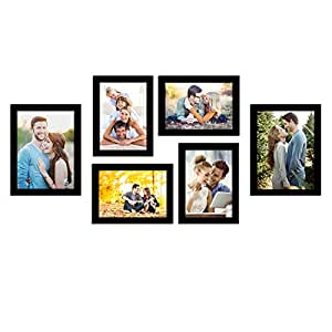 Art Street Photo Frame Wall Set of 6 Black Picture Frame For Home and Office Decoration Size -5x7, 6x8 Inches Eco Series (ASPWTECO23271)