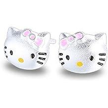 fd4bf1cd7ec5 Pendientes de plata de ley Findout con diseño de gatos