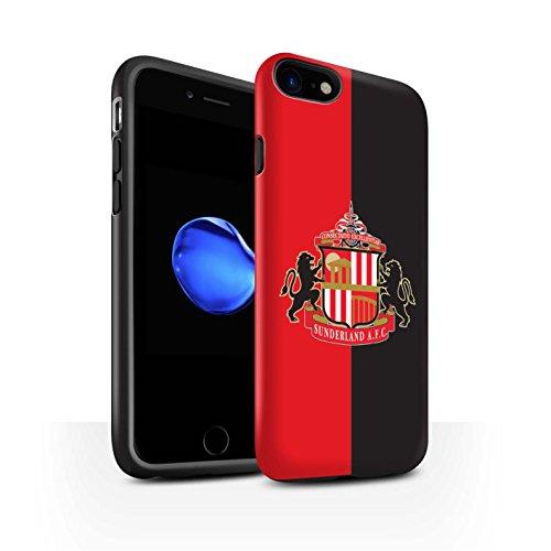 Offiziell Sunderland AFC Hülle / Matte Harten Stoßfest Case für Apple iPhone 8 / Rot Muster / SAFC Fußball Crest Kollektion Rot/Schwarz