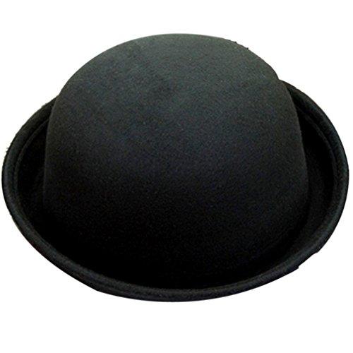 Belsen Damen Fedora Trilby Hut Retro Wolle Schlapphut Mütze (schwarz)