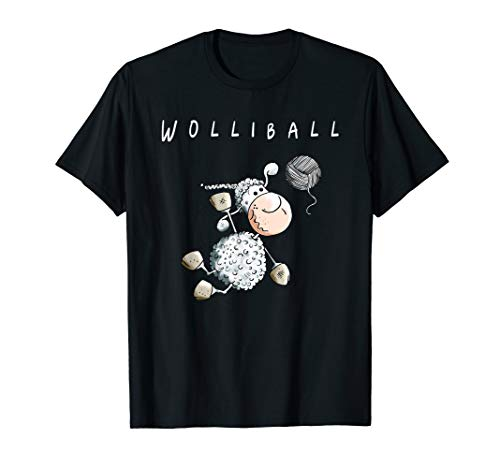 Wolliball T Shirt I Volleyball Schaf Wortspiel Funshirt
