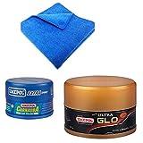 #9: Waxpol ultra glow 250g+ Waxpol carnauba wax 220g + Touchup Microfiber Cloth - Assorted
