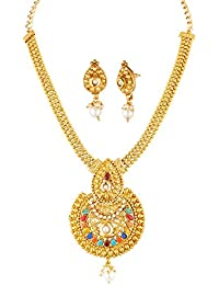 Apara Multicolor Kundan Ball Chain Necklace Set With Earing Drop For Women