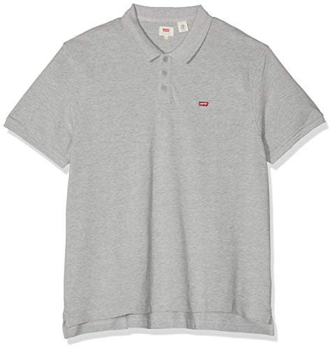 Levi's Herren Housemark Polo T-Shirt, Grau (Medium Grey Heather 0002), XX-Small (Herstellergröße: XXS) -