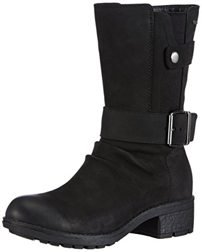 Clarks - Stivali Mansi Tess GTX, Donna Nero (Schwarz (Black Leather))