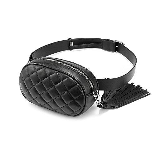 Lovevook marsupio donna elegante borsa tracolla donna piccola con cintura regolabile moda- nero