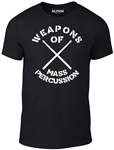 Reality Glitch Weapons of Mass Percussion T-Shirt (Large, Black)